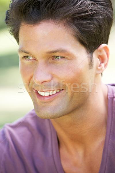 Открытый портрет улыбаясь человека мужчин мужчины Сток-фото © monkey_business