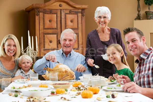 Ringraziamento famiglia ragazza donne Foto d'archivio © monkey_business