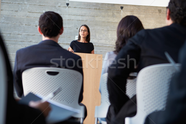 Businessman Delivering Presentation At Conference Stock photo © monkey_business