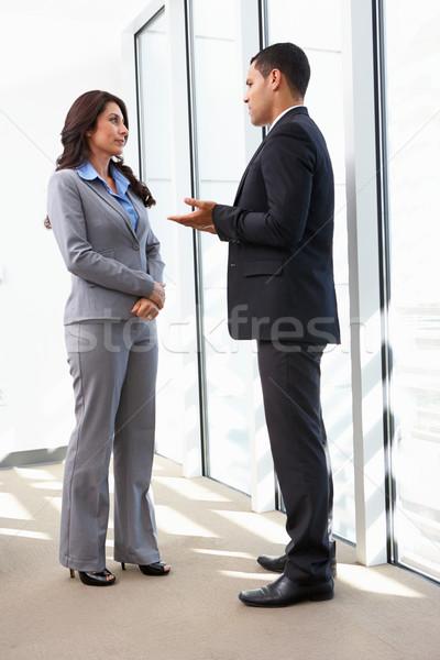 Informal reunión oficina negocios mujer Foto stock © monkey_business
