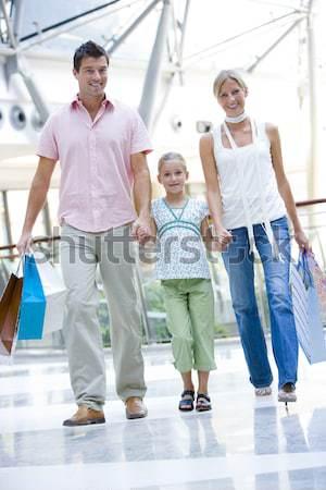 Stockfoto: Moeder · dochter · zakken · vrouw