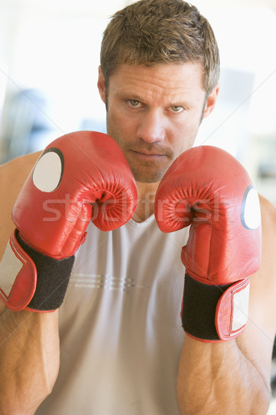 Hombre boxeo gimnasio fitness retrato pie Foto stock © monkey_business