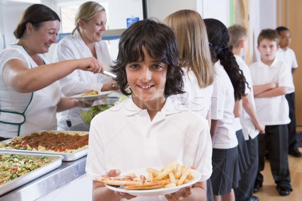 Estudante prato almoço escolas Foto stock © monkey_business