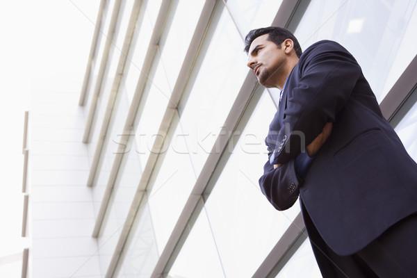 Photo stock: Affaires · permanent · à · l'extérieur · modernes · bureau · immeuble · de · bureaux