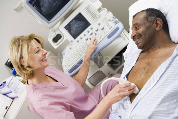Nurse Giving Patient An Ultra Sound  Stock photo © monkey_business