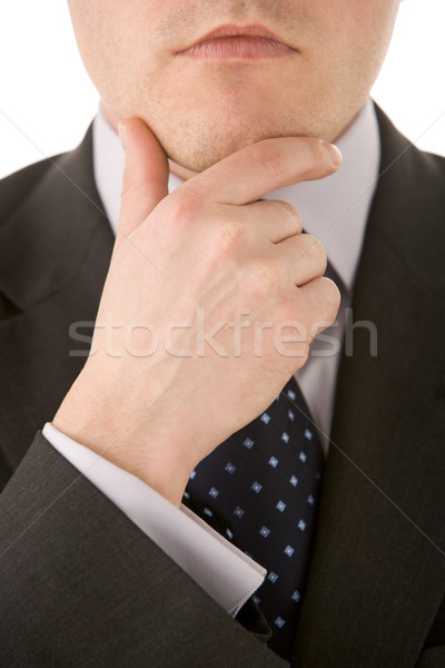Businessman Holding His Chin  Stock photo © monkey_business