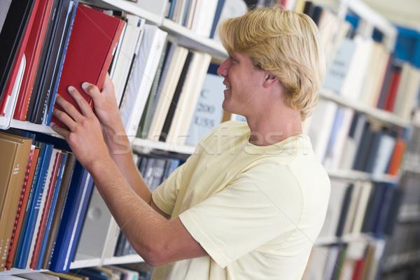 Сток-фото: книга · библиотека · мужчины · шельфа