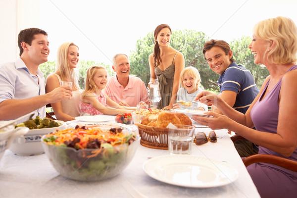 Familia padres ninos abuelos disfrutar picnic Foto stock © monkey_business