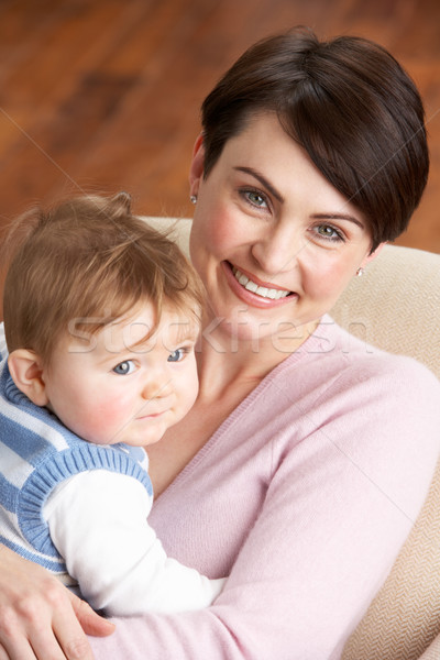 Portrait Of Mother With Baby At Home Stock photo © monkey_business
