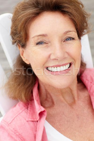 Starszy kobieta głowie plecy osoby uśmiechnięty Zdjęcia stock © monkey_business