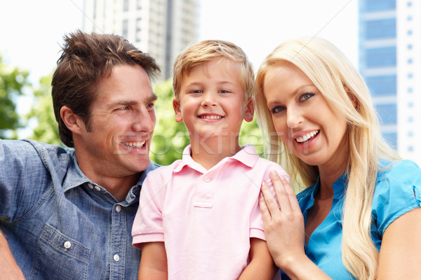Couple in city park with young son Stock photo © monkey_business