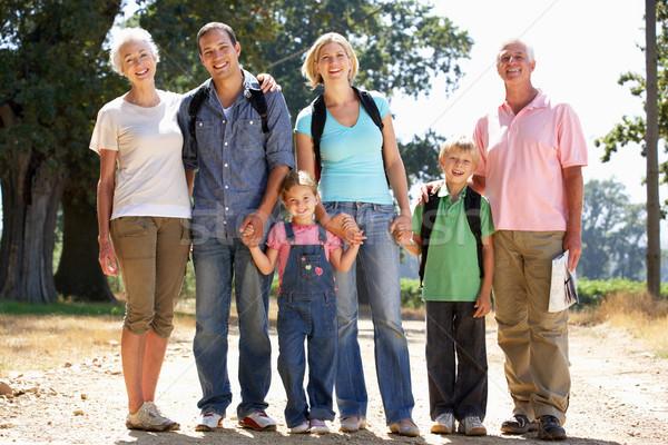 Three generation family on country walk Stock photo © monkey_business