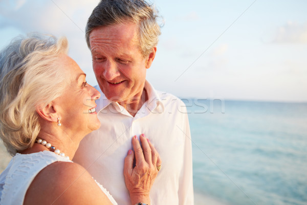 Senior Couple Getting Married In Beach Ceremony Stock photo © monkey_business