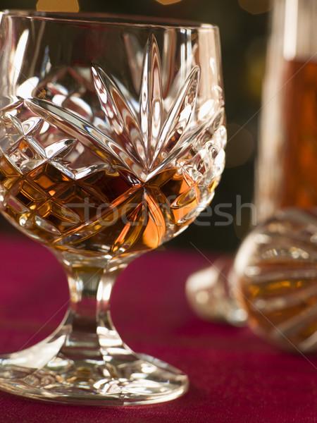 стекла бренди приготовления вертикальный ингредиент Сток-фото © monkey_business
