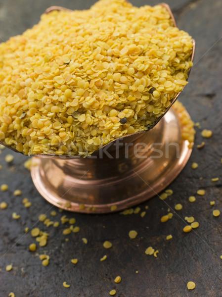 Dish of Yellow Mustard Seeds Stock photo © monkey_business