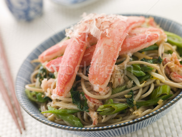 Snow Crab and Soba Noodle Salad Stock photo © monkey_business