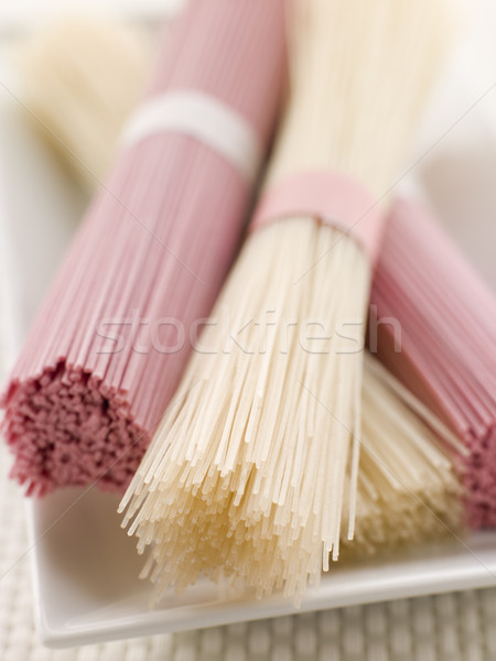 Clear and Pink Dried somen Noodles Stock photo © monkey_business