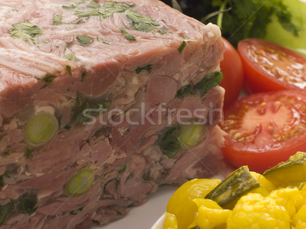 Jellied Gammon and Leek Terrine with Piccalilli Stock photo © monkey_business