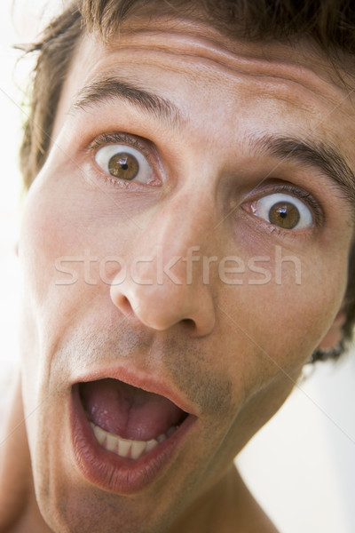 Head shot of surprised man Stock photo © monkey_business