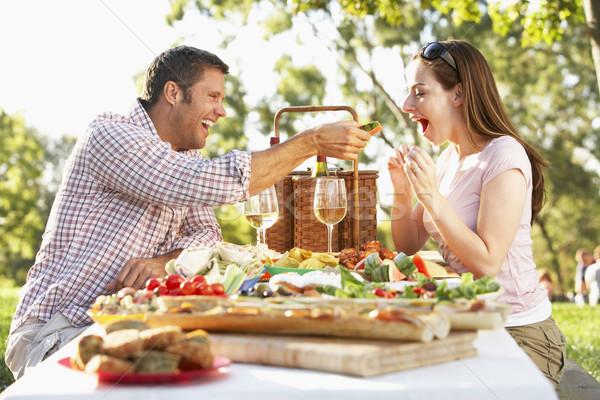 Сток-фото: пару · еды · фреска · еды · продовольствие · вино