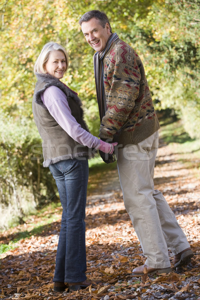 Senior couple on woodland walk Stock photo © monkey_business