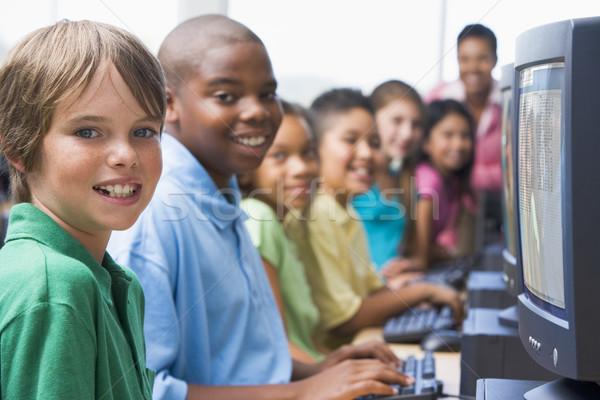 Elementary school computer class Stock photo © monkey_business
