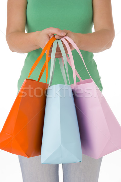 Mujer compras bolsa color Foto stock © monkey_business