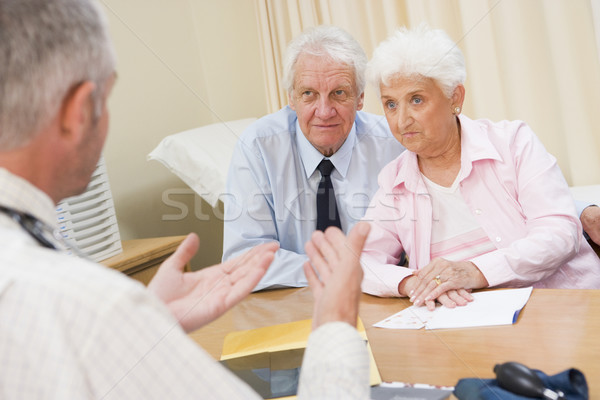 Couple in doctor's office frowning Stock photo © monkey_business