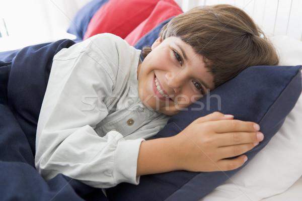 Letto bambino ragazzo camera da letto Foto d'archivio © monkey_business