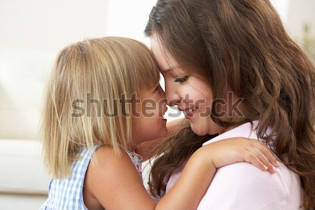 Close Up Of Affectionate Mother And Daughter At Home Stock photo © monkey_business