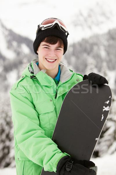 сноуборд лыжных праздник гор счастливым Сток-фото © monkey_business