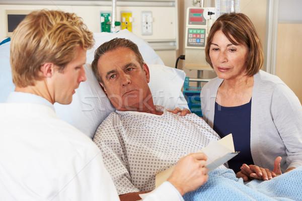 Doctor Talking To Couple On Ward Stock photo © monkey_business