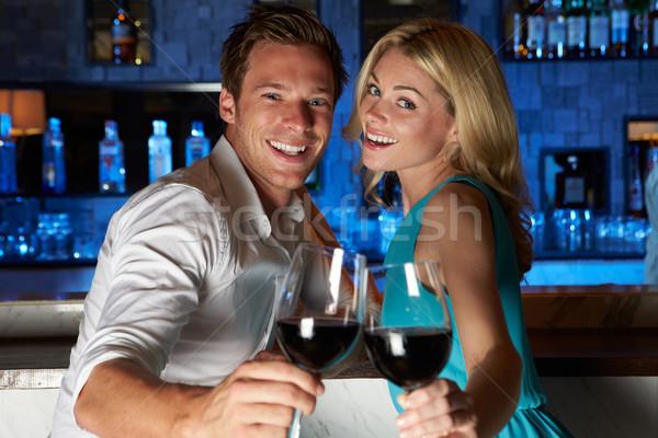 Couple Enjoying Drink In Bar Stock photo © monkey_business