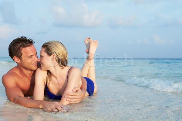Romântico casal mar praia tropical férias praia Foto stock © monkey_business