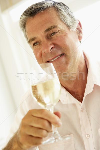 ストックフォト: ワイン · ガラス · 肖像 · 飲料