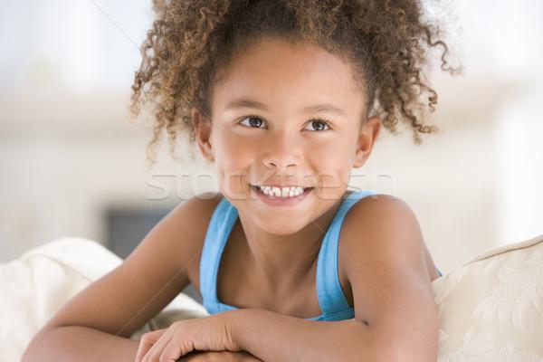 ストックフォト: 肖像 · 若い女の子 · 少女 · 子供 · 子 · ソファ