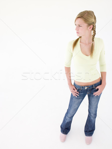 Teenage girl with hands on hips Stock photo © monkey_business