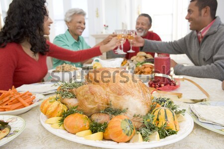 Zoenen maretak christmas voedsel man Stockfoto © monkey_business