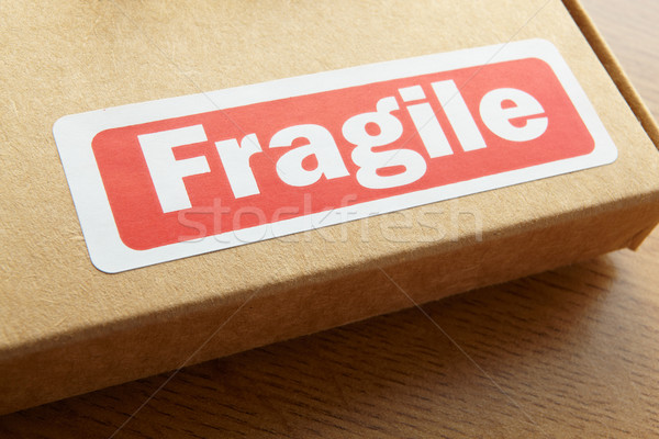Fragile travaux table soins post Photo stock © monkey_business