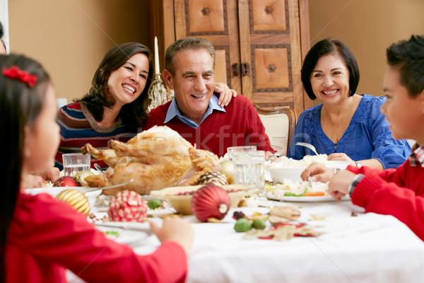 Multi Generation Family Celebrating With Christmas Meal Stock photo © monkey_business
