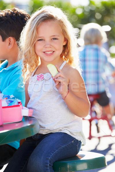 Elemental sesión mesa comer almuerzo nina Foto stock © monkey_business