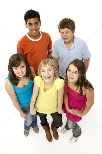 Group Of Five Young Children In Studio Stock photo © monkey_business