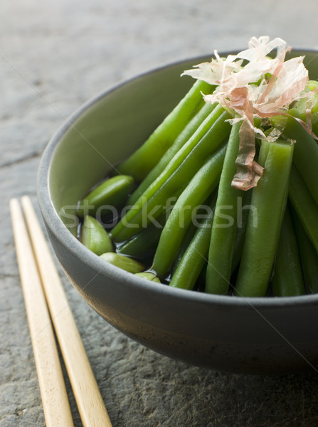 Bowl of Simmered Beans And Bonito Flakes Stock photo © monkey_business