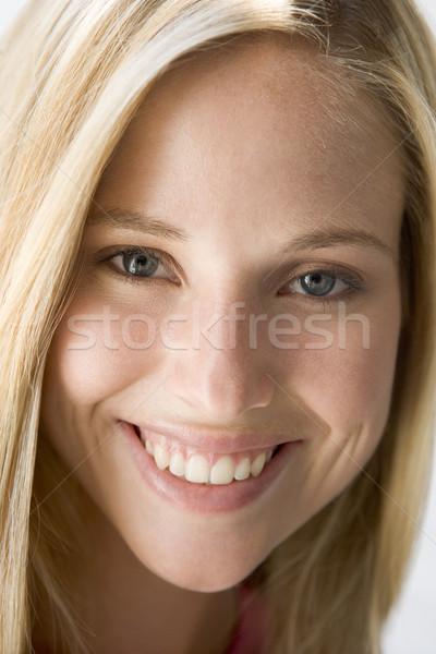 ストックフォト: 頭 · ショット · 女性の笑顔 · 笑みを浮かべて · 美しい · 肖像