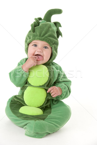 Baby in peas in pod costume Stock photo © monkey_business