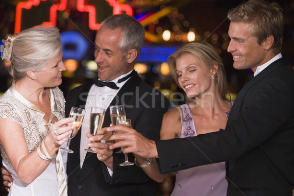 Сток-фото: группа · друзей · казино · шампанского · женщину
