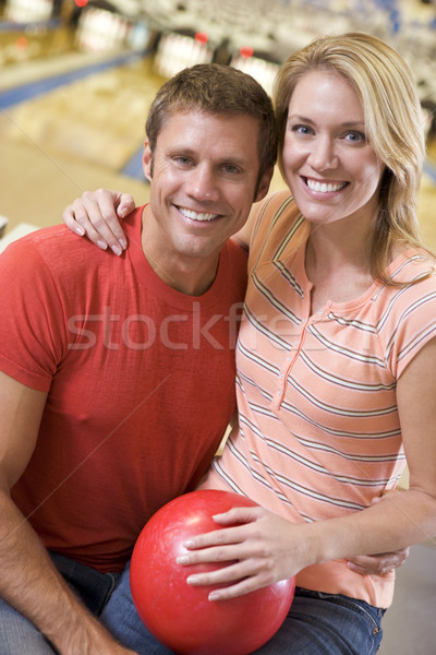 Couple balle souriant homme Photo stock © monkey_business