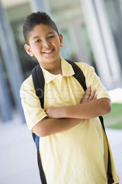Elementary school pupil outside Stock photo © monkey_business