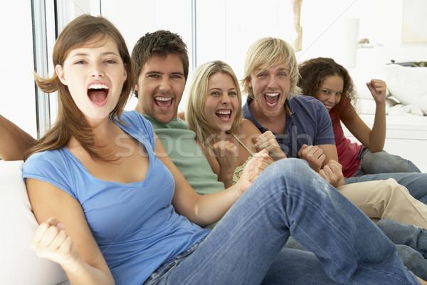 Foto stock: Amigos · tempo · juntos · mulheres · feliz · esportes