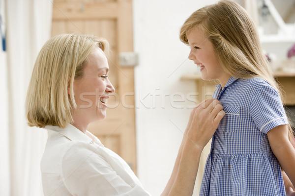 Nő elöl folyosó megjavít fiatal lányok Stock fotó © monkey_business
